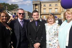 former greenwood academy pupil given top honour at buckingham palace