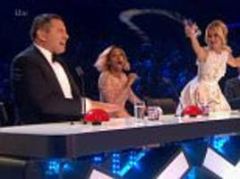 'Check Alesha's glass': David Walliams makes a cheeky dig at fellow judge Dixon as he jokes that she's been drinking again... as 12 acts battle it out on the Britain's Got Talent final