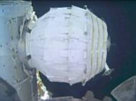 it's a growth industry! nasa successfully inflates expanding room on iss - and inflatable space stations could be next