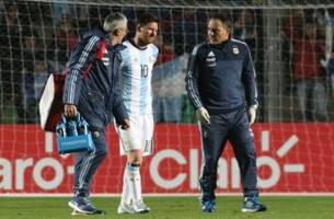 Lionel Messi leaves Honduras match with back injury