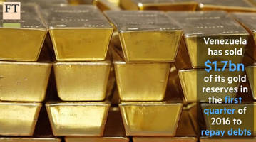 venezuela's gold reserves plunge to lowest ever as maduro repays debt with gold