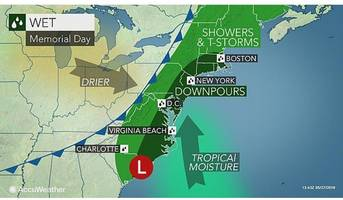 Connecticut's Memorial Day Weather Forecast: Heavy Rain, Thunderstorms and Flooding Possible
