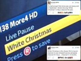 more4 leaves viewers baffled as it airs white christmas for the may bank holiday