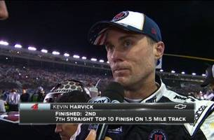 kevin harvick finishes runner-up at charlotte