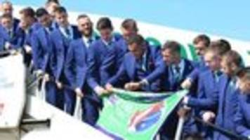 Northern Ireland team jet off to Euros