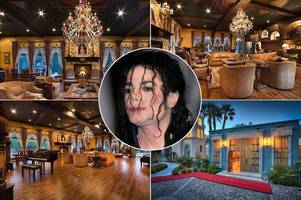 see inside michael jackson's las vegas mansion: music legend's luxury 'thriller villa' on the market for $9.5million
