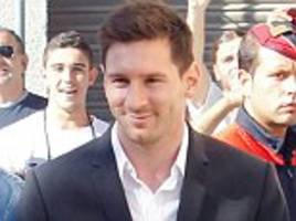 Lionel Messi's £3.2m tax fraud trial begins in Barcelona as he and his dad arrive at court