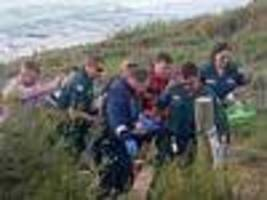 Shark attack victim 'fighting for life'