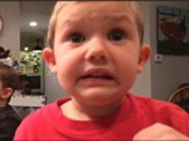 'i would be scared!' watch adorable four-year-old boy tell his dad that he doesn't want to get married because of 'spit-filled kisses'