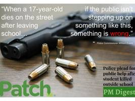'we should be outraged': student shot, killed near school|woman resigns amid questions about military honors: pm digest
