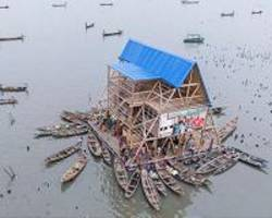 lagos floating school collapses in heavy rains