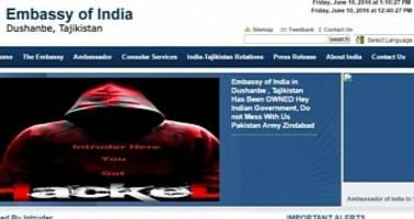 pakistani hackers deface websites for seven indian embassies, one police station