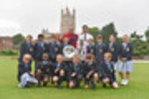 rugby world cup winner phil vickery visits gloucester school with...