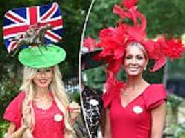 royal ascot ladies keep up the trend for quirky hats