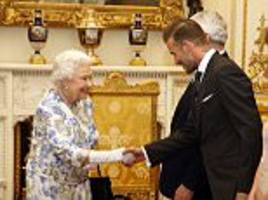david beckham reveals he still gets 'goosebumps' meeting the queen as they team up for a star-studded awards ceremony at buckingham palace