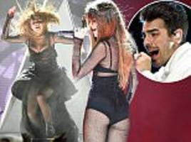 Selena Gomez puts on a daring display as she is joined by Joe Jonas on her Revival tour