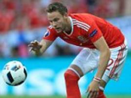 chris gunter's euro 2016 displays for wales have alerted premier league clubs and reading defender could cost just £1million