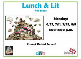Lunch & Lit for Teens at Simsbury Public Library