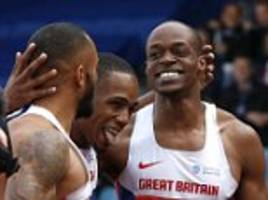 james dasaolu storms to 100-metre title at british championship as three men clock under 10 seconds to boost olympic hopes