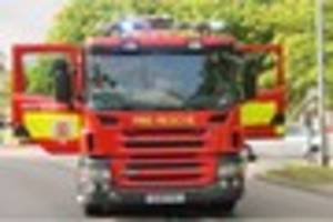 brentwood fire crew tackles engine oil container blaze