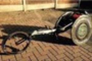 Paralympic racing wheelchair stolen from West Kingsdown found