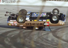 Driver Wrecks A Drag Car With Jay Leno In The Passenger Seat