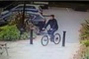 cctv of cyclist wanted after sneak theft of ipad mini from open...