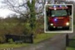 Brentwood fire crews called to flooded basement