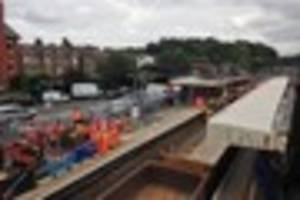 Pictures: Brentwood station weekend engineering works