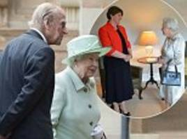 the queen and prince philip arrive at hillsborough castle to kick off their two-day northern ireland visit