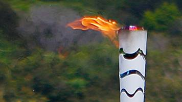 rio 2016: water thrown on olympic flame in brazil