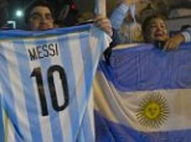 argentina return home from copa america agony as glum-faced fans beg lionel messi not to retire from international football