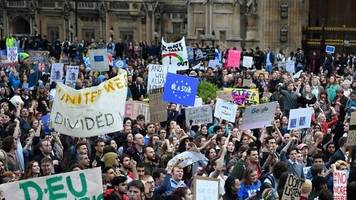 brexit protesters hold westminster rally