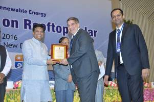 delta receives national excellence award from mnre  at the national workshop on rooftop solar