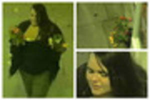 what a blooming disgrace! vandal caught on cctv pulling up...