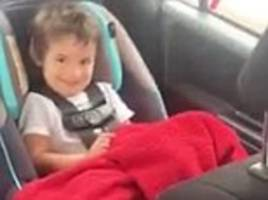 hilarious moment toddler tries to say the word 'truck'... and things don't exactly go to plan