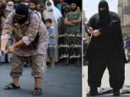 is this the new bulldozer of raqqa? obese isis jihadi is seen beheading prisoner in syria weeks after terror group's 20 stone executioner was 'captured' by syrian army