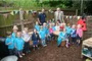 mud pies on the the menu at longham pre-school