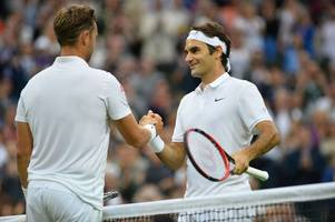 roger federer defeats cinderella man marcus willis in straight sets as wimbledon comes alive