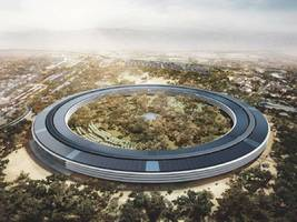 what apple's $5 billion 'spaceship' campus looks like 6 months from finish (aapl)