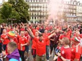 Thousands of Welsh fans make last minute dash to see Bale's team in Euro 2016 clash – but could miss kick-off after being hit by Eurotunnel delays... so they sang Delilah to cheer themselves up