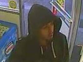 recognize him?  peninsula gas station robbery suspect sought