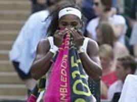 new towels please! serena williams and andy murray among number of wimbledon stars taking scores of distinctive towels during the tournament for family and assistants