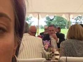 rupert murdoch, liam fox and nigel farage in union flag shoes get together at garden party held by billionaire evgeny lebedev only for lily allen to capture the whole thing on twitter