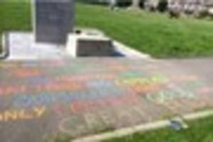 artist hits back at nazis who desecrated michael foot's memorial...