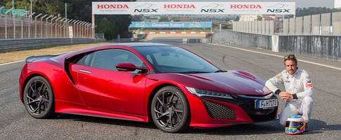 fernando alonso drives the 2017 honda nsx, digs the brakes