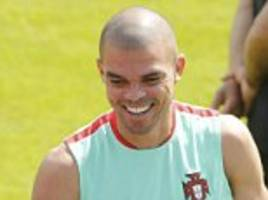 pepe bids for fitness as cristiano ronaldo and portugal prepare for euro 2016 final with france