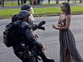 Baton Rouge protester in flowing dress is identified as ...