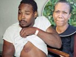exclusive 'it's gotten worse - now they're shooting blacks instead of beating them.' wife of rodney king, who was violently beaten by cops 25 years ago sparking los angeles riots, speaks out and says we must 'get along'