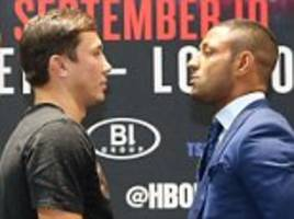 gennady golovkin says kell brook will be his 'biggest test' after coming face to face with opponent in new york
